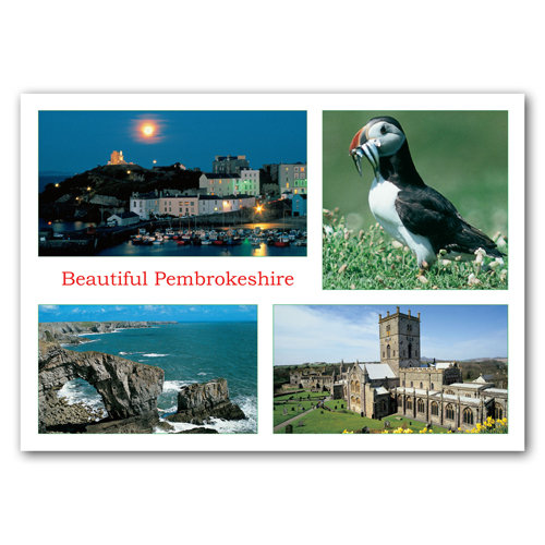 Pembrokeshire Beautiful - Sold in pack (100 postcards)