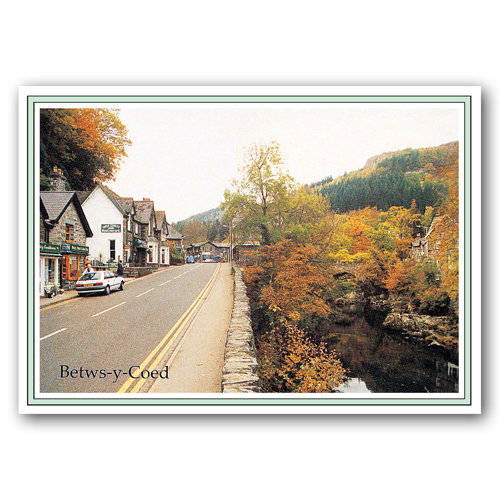 Betws-Y-Coed High Street - Sold in pack (100 postcards)