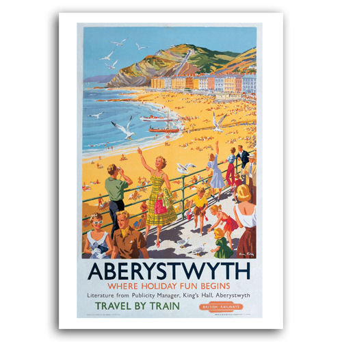 Aberystwyth Travel By Train - Sold in pack (100 postcards)