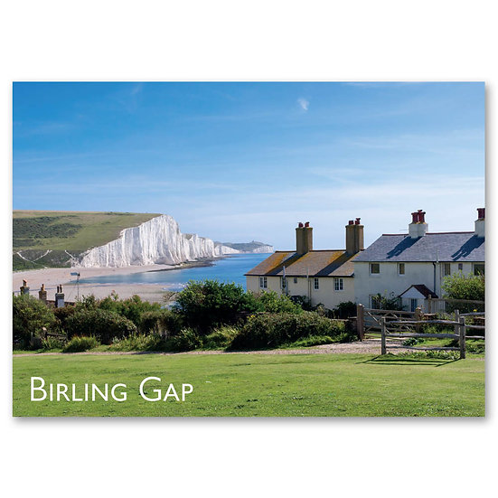 Eastbourne, White chalk cliffs of Seven Sisters - Sold in pack (100 postcards)