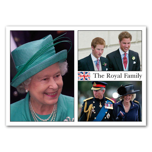 London Royal Family - Sold in pack (100 postcards)