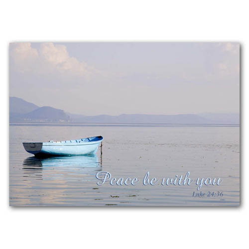 Bible Verse Peace Be Still - Sold in pack (100 postcards)