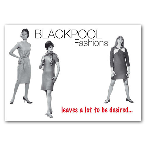 Blackpool Fashion Lot - Sold in pack (100 postcards)