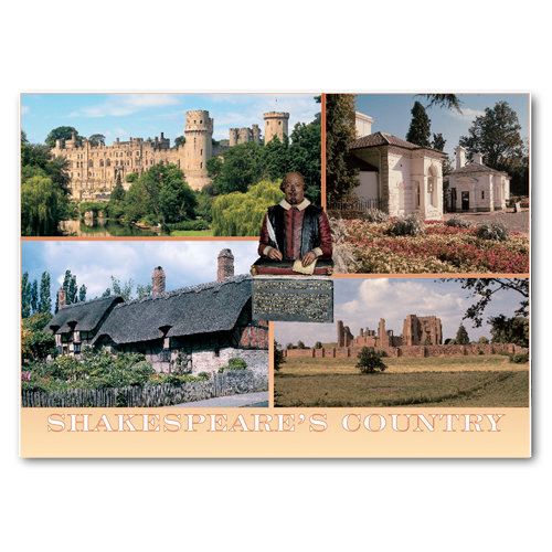 Warwickshire Shakespeare Country - Sold in pack (100 postcards)