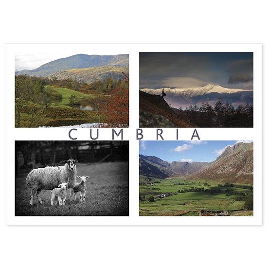 Cumbria Comp - Sold in pack (100 postcards)