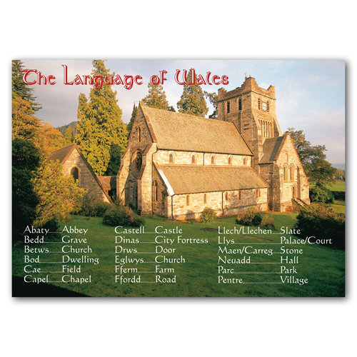 Wales Language Nouns - Sold in pack (100 postcards)