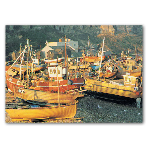 Hastings The Fishing Beach - Sold in pack (100 postcards)