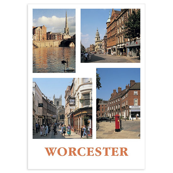 Worcester Comp - Sold in pack (100 postcards)