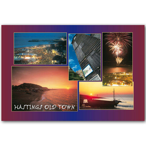 Hastings Old Town Comp - Sold in pack (100 postcards)