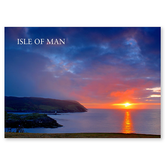 Isle of Man : Sunset at Calf of Man - Sold in pack (100 postcards)