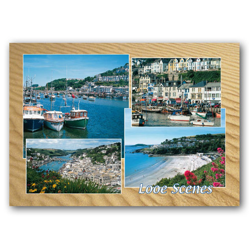 Looe Scenes - Sold in pack (100 postcards)