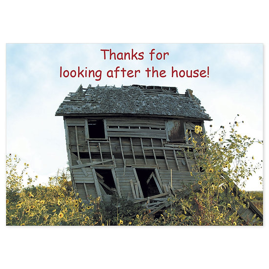 Thank You : House - Sold in pack (100 postcards)
