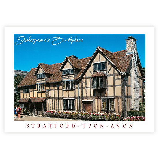 Stratford-Upon-Avon Shakespeare's House - Sold in pack (100 postcards)