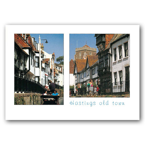 Hastings Old Town - Sold in pack (100 postcards)