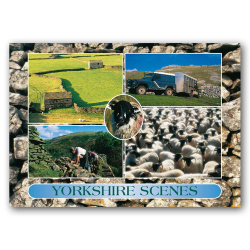 Yorkshire Scenes - Sold in pack (100 postcards)