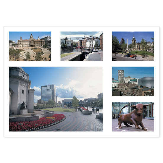 Birmingham 6 View Comp - Sold in pack (100 postcards)