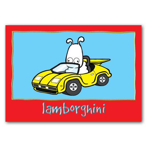 Baa - Lamborghini - Sold in pack (100 postcards)