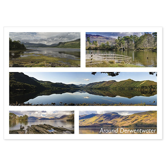 Derwentwater Around Comp - Sold in pack (100 postcards)