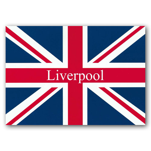 Liverpool Union Jack - Sold in pack (100 postcards)