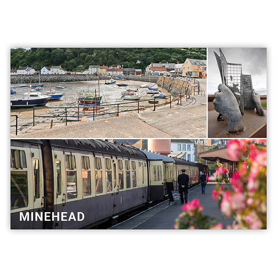 Minehead 3 View Comp - Sold in pack (100 postcards)