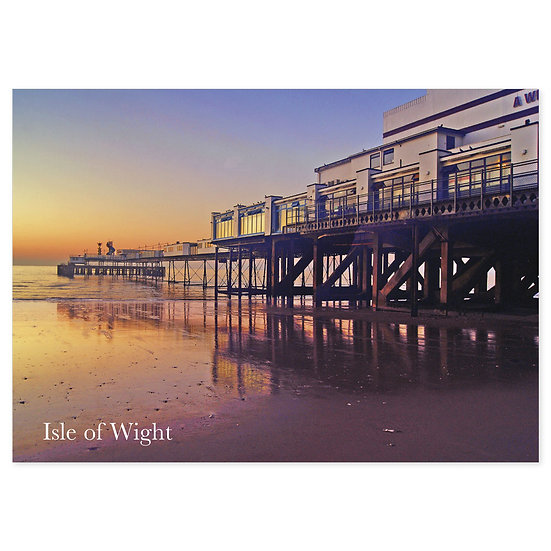 Isle of Wight Pier - Sold in pack (100 postcards)