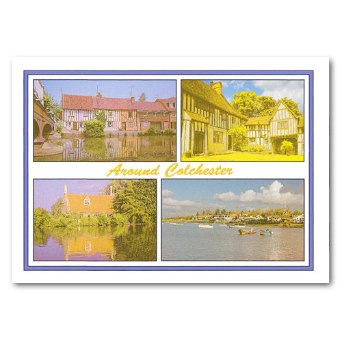 Colchester Around 4 View Comp - Sold in pack (100 postcards)