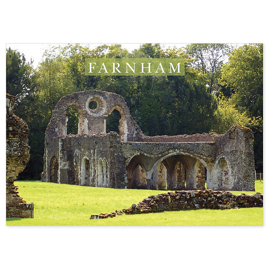Farnham Main Hall Ruins - Sold in pack (100 postcards)