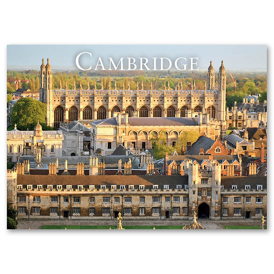 Cambridge, Aerial view of historical buildings - Sold in pack (100 postcards)