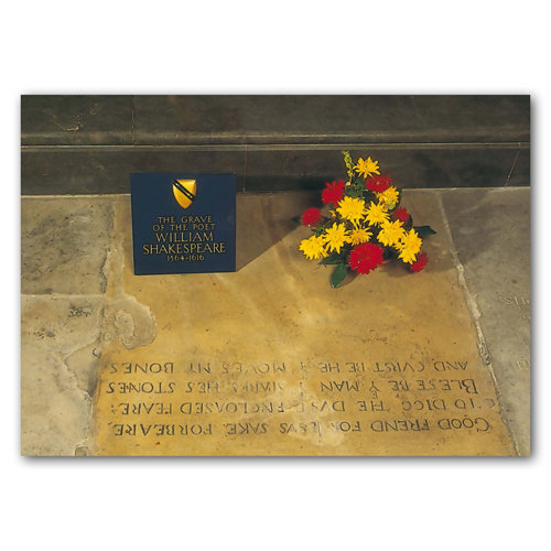 Stratford-Upon-Avon Shakespeare's Grave - Sold in pack (100 postcards)