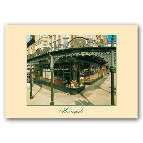 Harrogate Bettys Cafe Tea Rooms - Sold in pack (100 postcards)