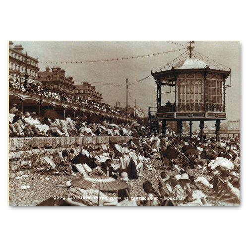 Eastbourne Listening to the Band Circa 1926 - Sold in pack (100 postcards)