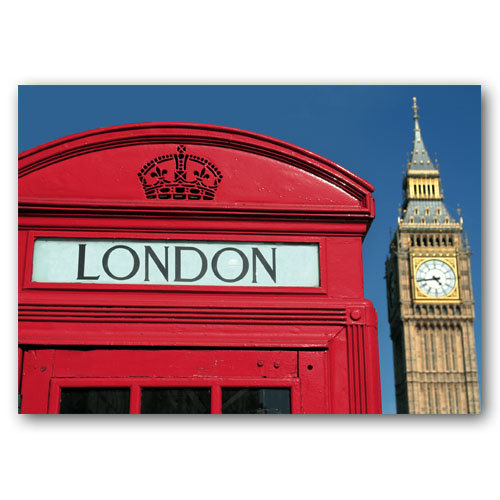 London Phone Box - Sold in pack (100 postcards)