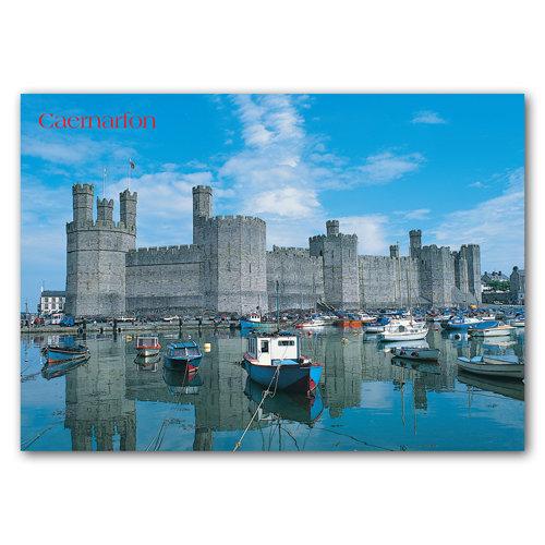 Caernarfon Castle - Sold in pack (100 postcards)
