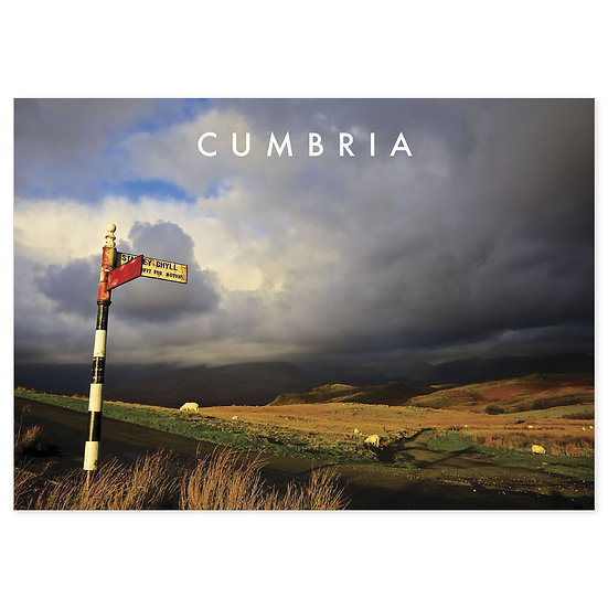 Cumbria Sign Post - Sold in pack (100 postcards)
