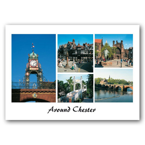 Chester Around - Sold in pack (100 postcards)