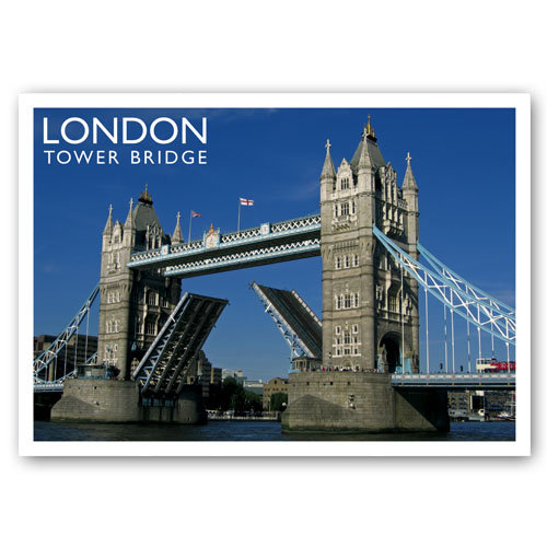 London Tower Bridge - Sold in pack (100 postcards)