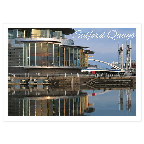 Manchester Salford Quays - Sold in pack (100 postcards)