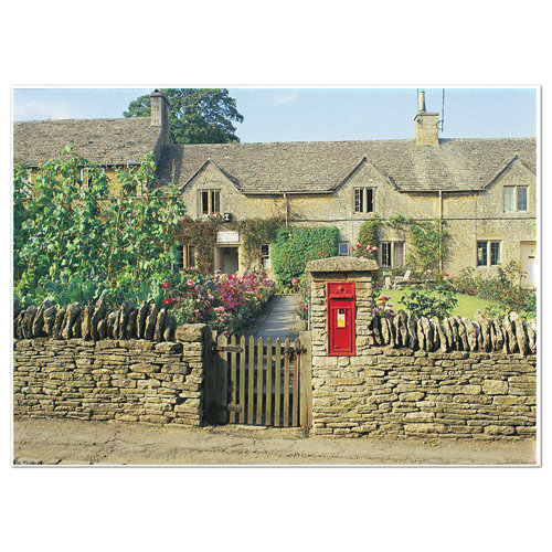 Cotswolds Village Post Box - Sold in pack (100 postcards)