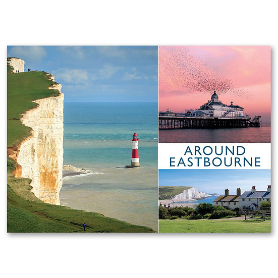 Eastbourne, Around 3 view composite - Sold in pack (100 postcards)