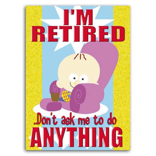 Little Devils - I'm Retired - Sold in pack (100 postcards)