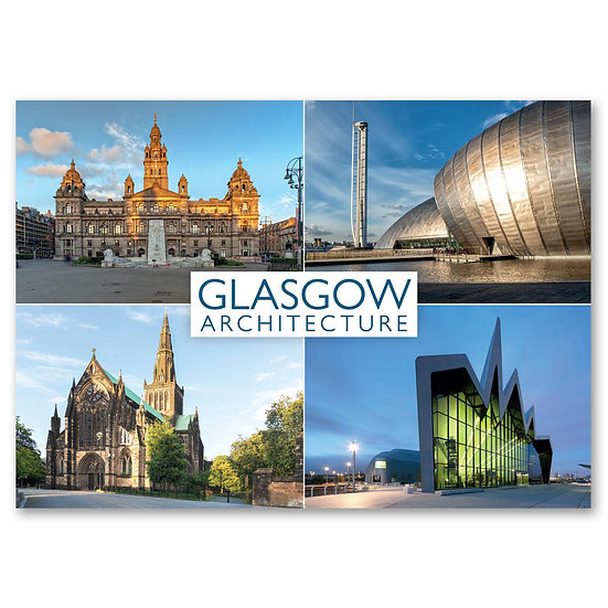 Glasgow architecture - Sold in pack (100 postcards)