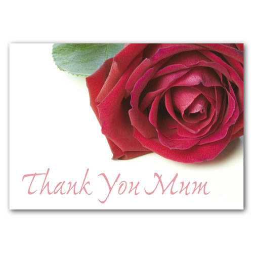 Thank You - Mum - Sold in pack (100 postcards)
