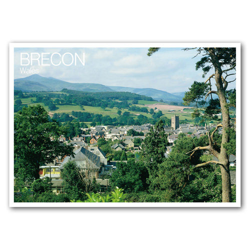 Brecon Beacons and Brecon - Sold in pack (100 postcards)