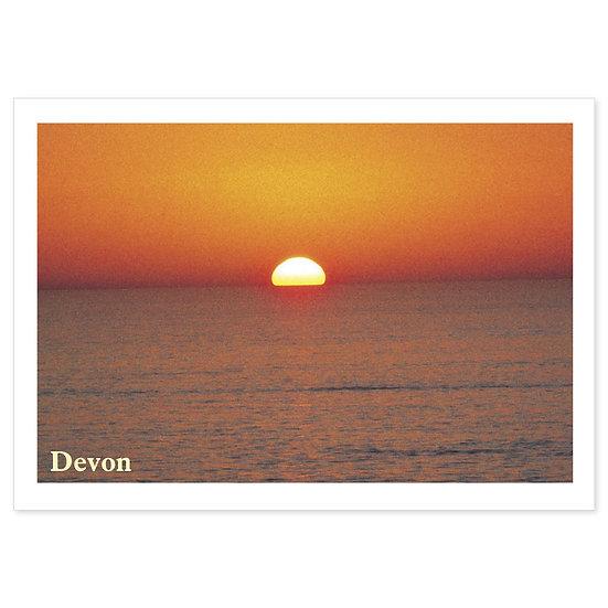 Devon Sunset - Sold in pack (100 postcards)