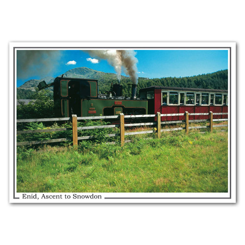Snowdon Mountain Railway Enid - Sold in pack (100 postcards)