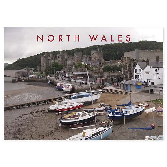 Conwy North Wales Naturally - Sold in pack (100 postcards)