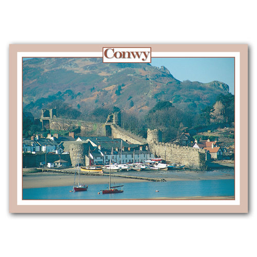Conwy Harbour & Town Walls - Sold in pack (100 postcards)