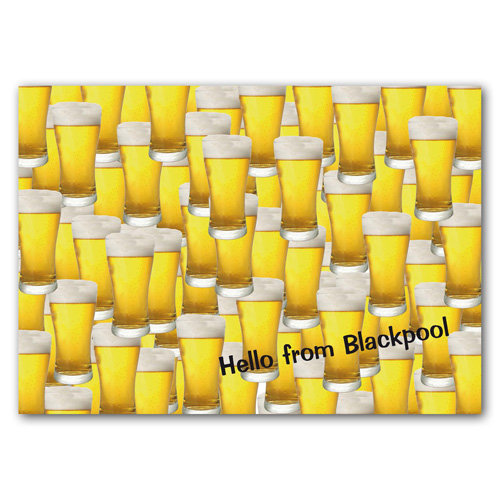 Blackpool Hello from - Sold in pack (100 postcards)