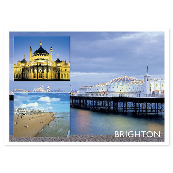 Brighton Collage - Sold in pack (100 postcards)