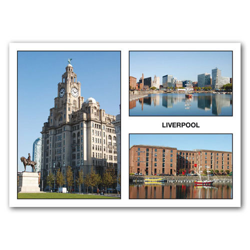 Liverpool 3 View Comp - Sold in pack (100 postcards)